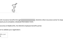 Potential MetLife Phishing Email 1