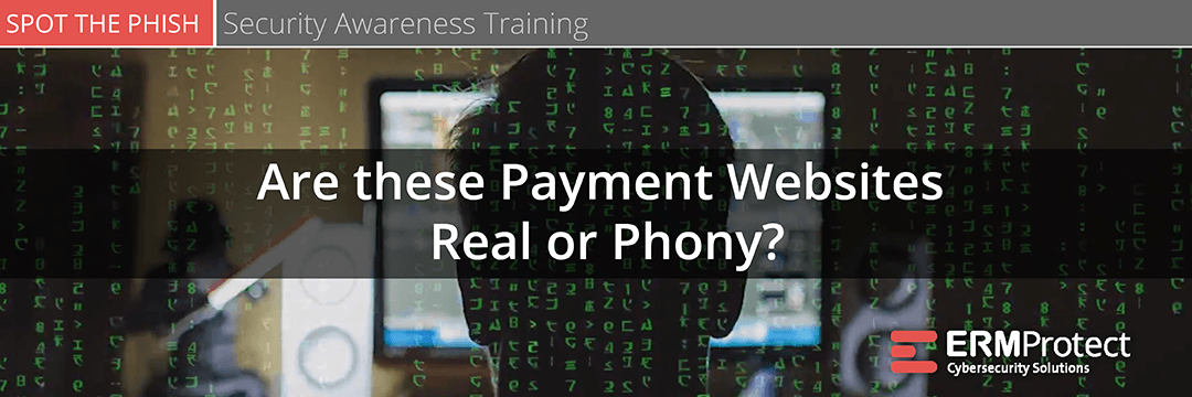 Security Awareness Training - Are these payment websites real or phony?