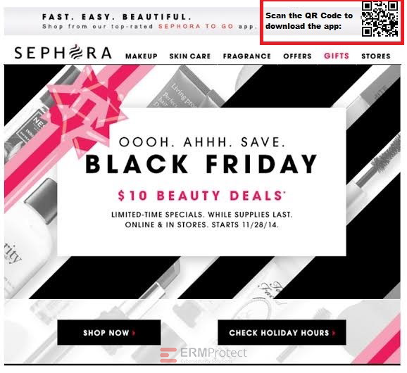 Sephora Black Friday Phishing Scam Red Flags 2